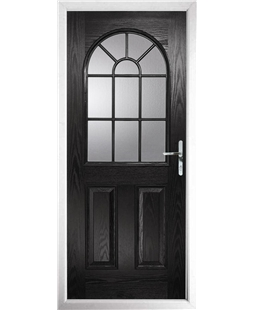 The Leeds Composite Door in Black with Glazing