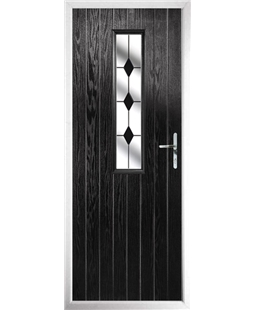 The Sheffield Composite Door in Black with Black Diamonds