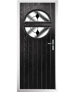 The Queensbury Composite Door in Black with Black Diamonds