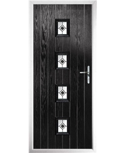The Uttoxeter Composite Door in Black with Black Fusion Ellipse