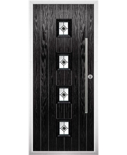 The Leicester Composite Door in Black with Black Fusion Ellipse