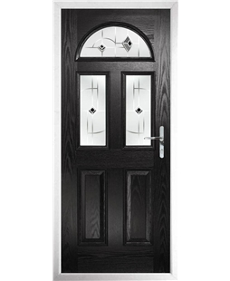 The Glasgow Composite Door in Black with Black Murano