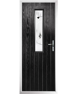 The Sheffield Composite Door in Black with Black Murano