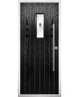 The Zetland Composite Door in Black with Black Murano