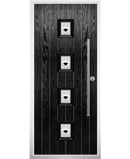 The Leicester Composite Door in Black with Black Murano