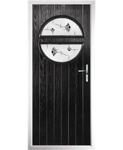 The Queensbury Composite Door in Black with Black Murano