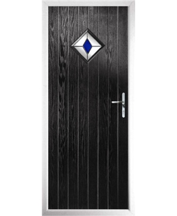 The Reading Composite Door in Black with Blue Diamond