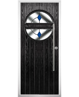 The Xenia Composite Door in Black with Blue Diamond