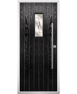 The Zetland Composite Door in Black with Clarity Elegance
