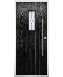 The Zetland Composite Door in Black with Classic Glazing