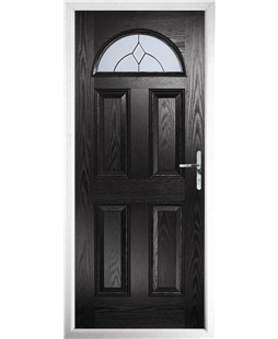 The Derby Composite Door in Black with Classic Glazing