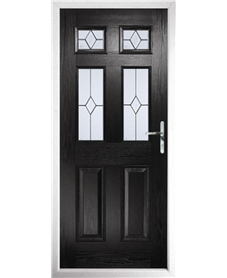 The Oxford Composite Door in Black with Classic Glazing