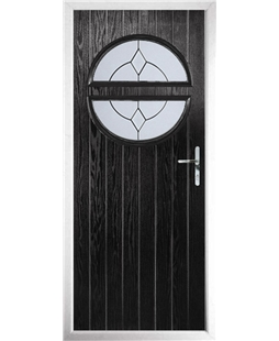 The Queensbury Composite Door in Black with Classic Glazing
