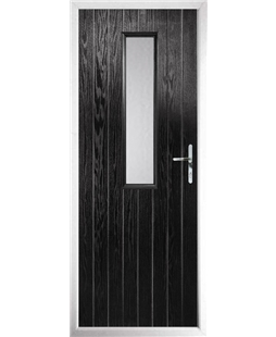 The Sheffield Composite Door in Black with Clear Glazing