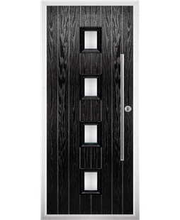 The Leicester Composite Door in Black with Clear Glazing