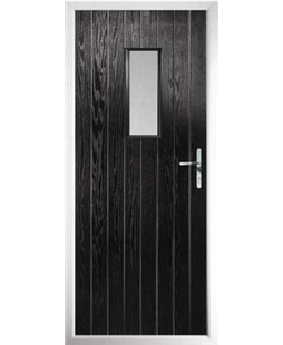 The Taunton Composite Door in Black with Clear Glazing