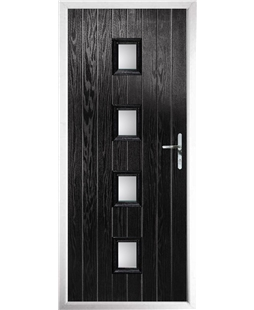 The Uttoxeter Composite Door in Black with Glazing