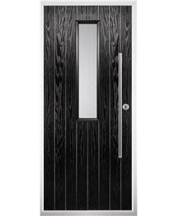 The York Composite Door in Black with Clear Glazing
