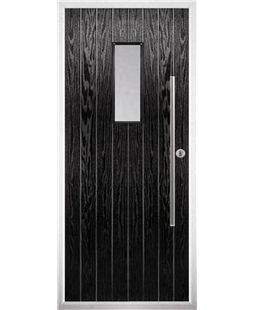 The Zetland Composite Door in Black with Clear Glazing
