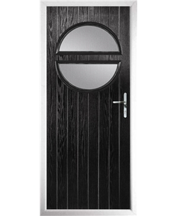 The Queensbury Composite Door in Black with Clear Glazing