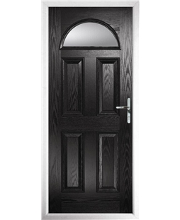The Derby Composite Door in Black with Clear Glazing