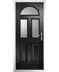 The Glasgow Composite Door in Black with Clear Glazing