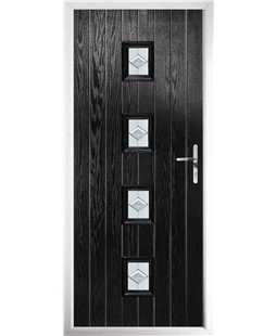 The Uttoxeter Composite Door in Black with Eclipse