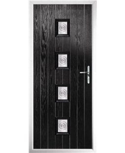 The Uttoxeter Composite Door in Black with Bullion