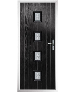 The Uttoxeter Composite Door in Black with Luxury Crystal