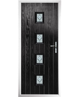 The Uttoxeter Composite Door in Black with Cameo