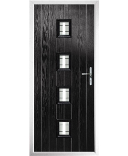 The Uttoxeter Composite Door in Black with Tate
