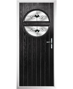 The Queensbury Composite Door in Black with Black Crystal Bohemia