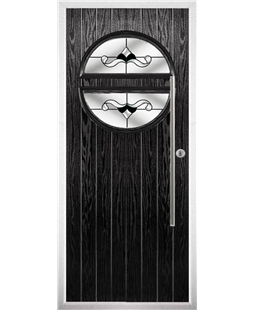 The Xenia Composite Door in Black with Black Crystal Bohemia