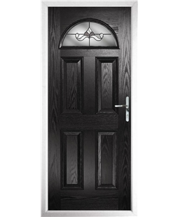 The Derby Composite Door in Black with Crystal Bohemia Frost