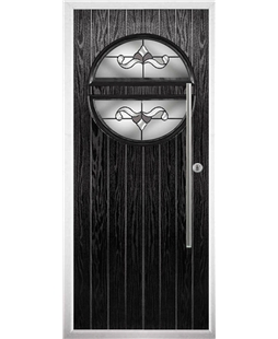 The Xenia Composite Door in Black with Crystal Bohemia Frost