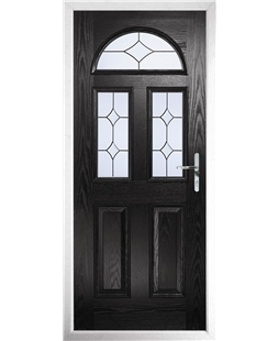 The Glasgow Composite Door in Black with Crystal Diamond