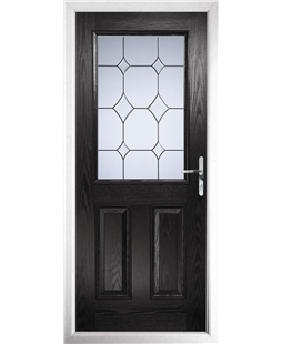 The Farnborough Composite Door in Black with Crystal Diamond