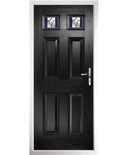 The Ipswich Composite Door in Black with Blue Crystal Harmony