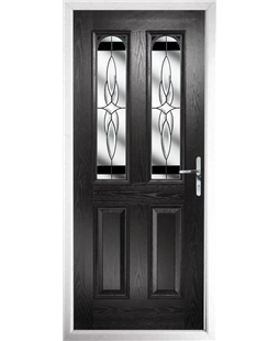 The Aberdeen Composite Door in Black with Black Crystal Harmony