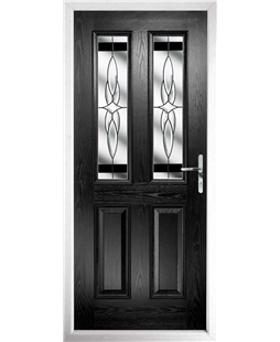 The Cardiff Composite Door in Black with Black Crystal Harmony  sc 1 st  Value Doors UK & The Cardiff Composite Doors | Value Doors UK
