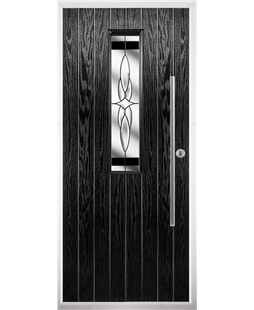 The York Composite Door in Black with Black Crystal Harmony