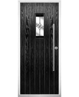 The Zetland Composite Door in Black with Black Crystal Harmony