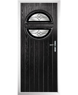 The Queensbury Composite Door in Black with Black Crystal Harmony
