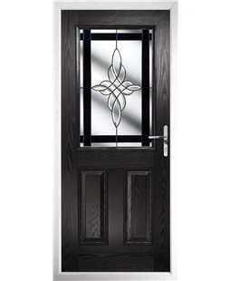 The Farnborough Composite Door in Black with Black Crystal Harmony