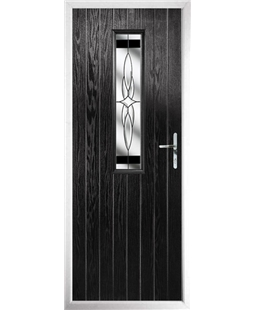 The Sheffield Composite Door in Black with Black Crystal Harmony