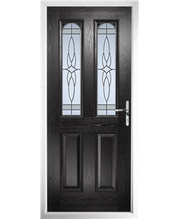 The Aberdeen Composite Door in Black with Crystal Harmony Frost