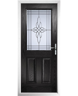 The Farnborough Composite Door in Black with Crystal Harmony Frost