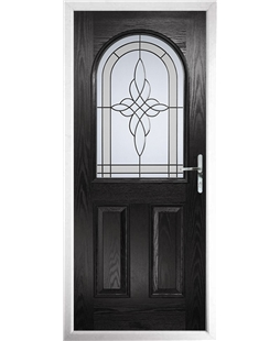 The Edinburgh Composite Door in Black with Crystal Harmony Frost