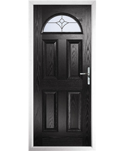 The Derby Composite Door in Black with Crystal Tulip Arch