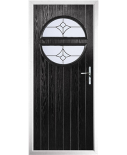 The Queensbury Composite Door in Black with Crystal Tulip Arch